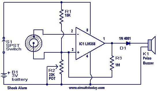 Shock Alarm Circuit Electronic Circuits And Diagrams