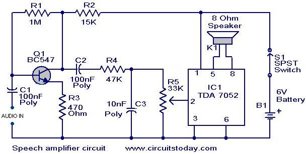 speech amplifier circuit electronic circuits and. Black Bedroom Furniture Sets. Home Design Ideas
