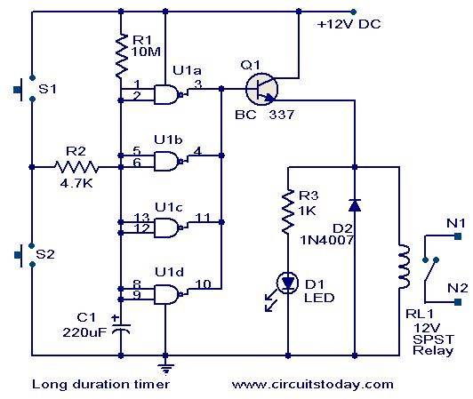 Long Duration Timer Circuit.
