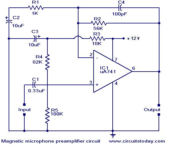 Class B Power  lifiers besides Audio Loudness Control moreover Voltage Doubler With Ne555 Timer Chip additionally Mag ic Pickup Pre  lifier Circuit also Bipol. on transistor pre schematic