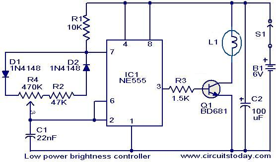 Brightness Controller For Low Power Lamps Electronic