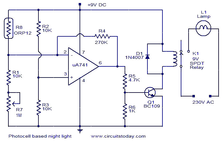 Photocell Based Night Light