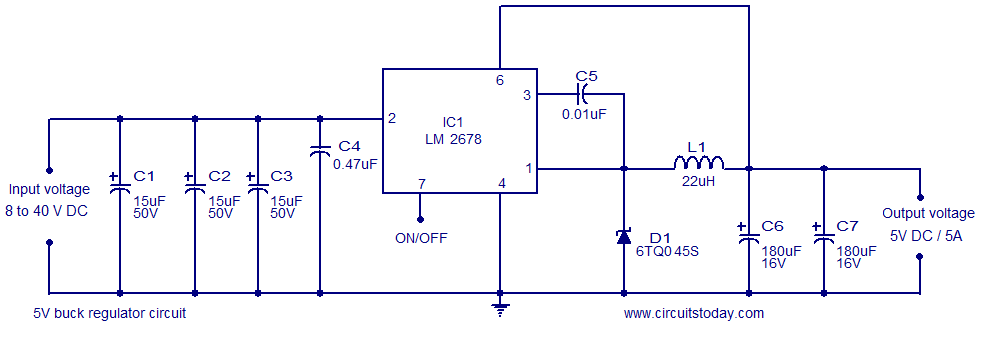 5v Buck Regulator Using Lm2678