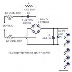 A Simple LED Lamp Circuit From Scrap Uses 5 LED And Takes