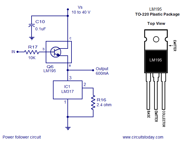 Circuito Lm317 : Few lm voltage regulator circuits that has a lot of
