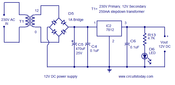 ac to dc convertor wiring diagram circuit bank