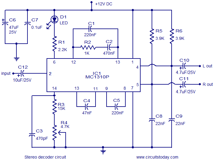 Decoder the circuit and diagram semiconductor