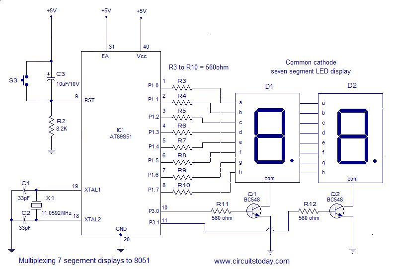 Electroidware Interfacing Seven Segment Display To 8051
