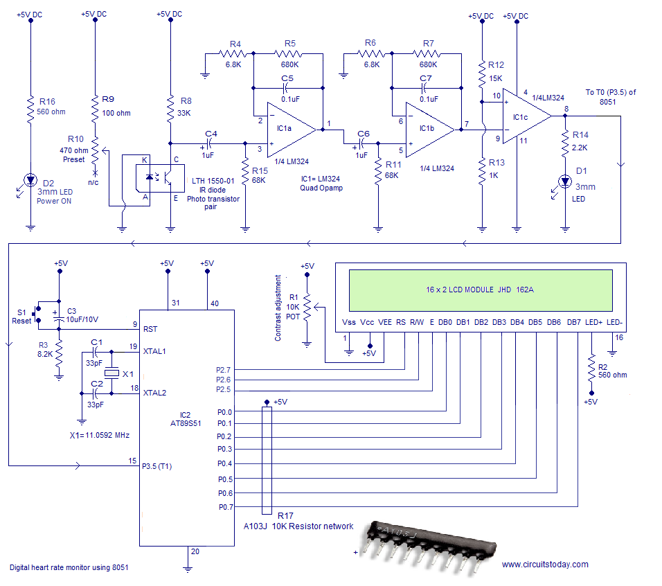 Pulse Laser Diode Circuit Ask Answer Wiring Diagram Driver Pulsed Heart Rate Monitor Using 8051 Microcontroller Measures The From Finger Tip Dvd Circuits Short