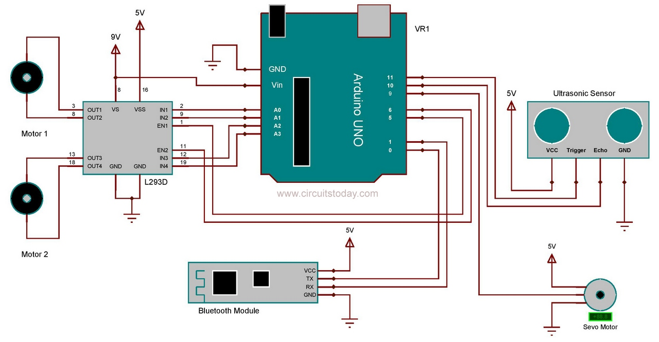 Robot Arduino Bluetooth Module Circuit on Arduino Two Motor Control Relay